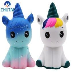 Jumbo Kawaii Красочные Galaxy Единорог мягкими кукла замедлить рост стресс облегчение игрушечные лошадки для маленьких детей Рождественский