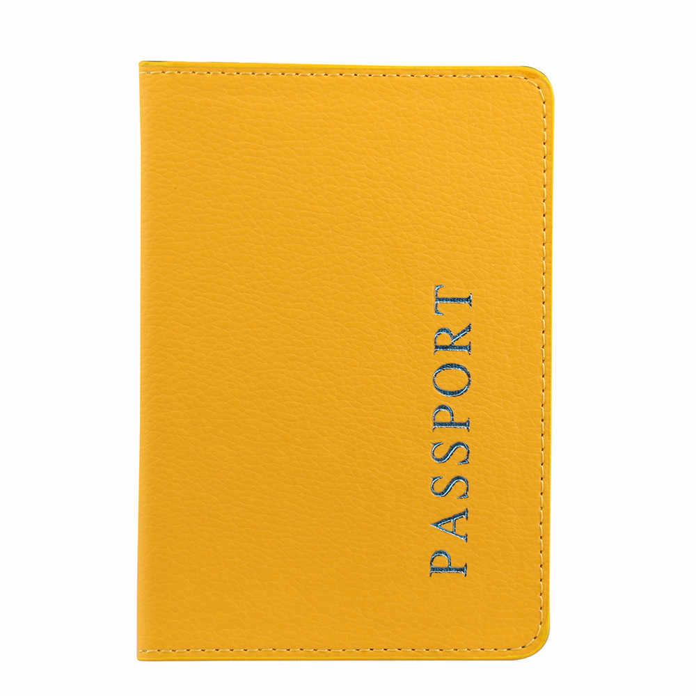 Hoge Kwaliteit 2019 Paspoorthouder Protector Wallet Visitekaartje Zachte Paspoort Leer Dropshipping 1.42