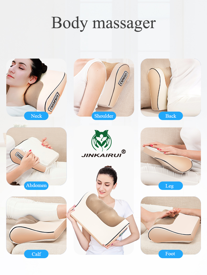 Infrared Heating Neck Shoulder Back Body Multifunctional Massage Pillow Shiatsu Massager Device Cervical Healthy Massageador18