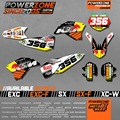 Customized Team Graphics Backgrounds New RB Decals 3M Stickers Kits For KTM SX SXF03-17 EXC F W 04-17 125 150 250 450 Sixdays