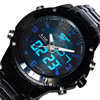 2017 SEWOR Top Brand New Fashion Luxury Quartz Electronic Dual Display Lled Men S Watch C300