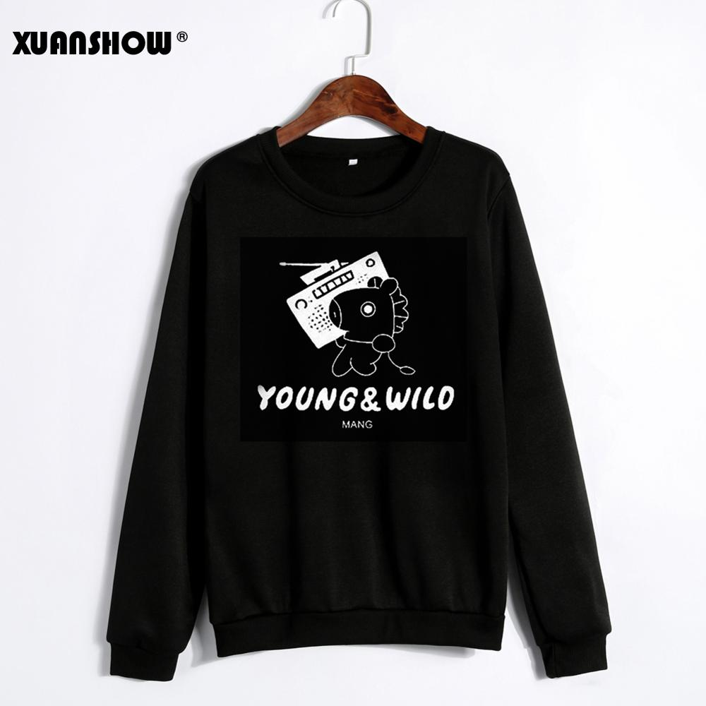XUNASHOW 2019 Unisex Hoodies Sweatshirts Men Women Fleece Long Sleeve Clothes Cartoon Letters Print Ropa Kawaii Plus Size S-5XL