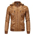 Men Leather & Suede Hooded Motorcycle Leather Jacket New Fashion Male Autumn And Winter Velvet warm Jackets Large Size 3XL