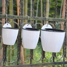 купить Self Watering Flower Pot Wall Hanging Resin Plastic Planter Durable For Garden Balcony plant  flower  planter дешево