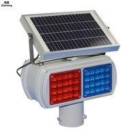 Solar Flashing Lights Red and Blue Traffic Warning Light 18v 10w Super Bright Signal Light for Highways Urban Roads Danger
