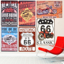RIDE OR DIE Plaque Vintage Metal Tin Signs Home Bar Pub Decorative Plates Motorcycle Wall Stickers Route 66 Iron Art Poster N228