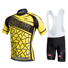 Fastcute Brand Summer yellow Breathable Cycling Clothing/Quick-Dry Racing Bicycle Jerseys Ropa Ciclismo/Lycra Pad Mountain Bike