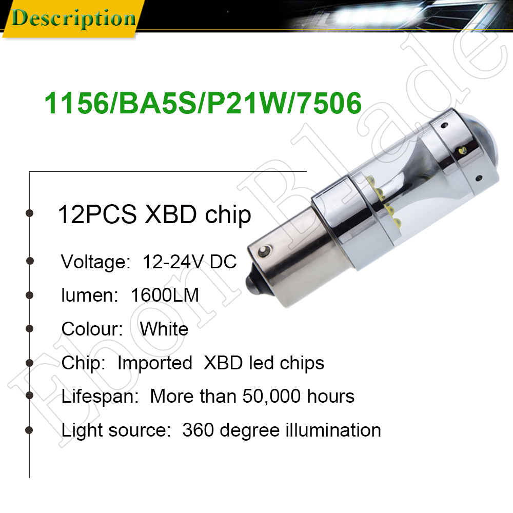2Pcs 1156 ba15s p21w py21w bau15s 1157 bay15d p21 5w led lights c 39 ree xbd 60W auto lamp bulbs car led light styling 12V 24V DC in Signal Lamp from Automobiles amp Motorcycles