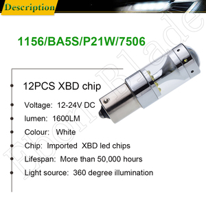 Image 2 - 2Pcs 1156 ba15s p21w py21w bau15s 1157 bay15d p21/5w led lights cree xbd 60W auto lamp bulbs car led light styling 12V 24V DC