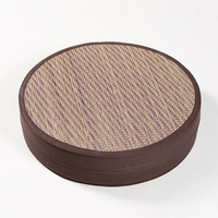 Japan Style Cotton Straw Round Seat Cushion Thicken Chair Tatami Bay Window Stool Cushion Futon Home Office Supplies Zabuton