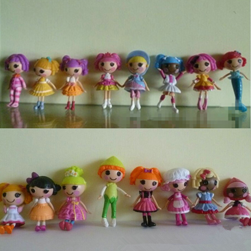 8pcs lot button eyes mini lalaloopsy dolls birthday gifts for girls