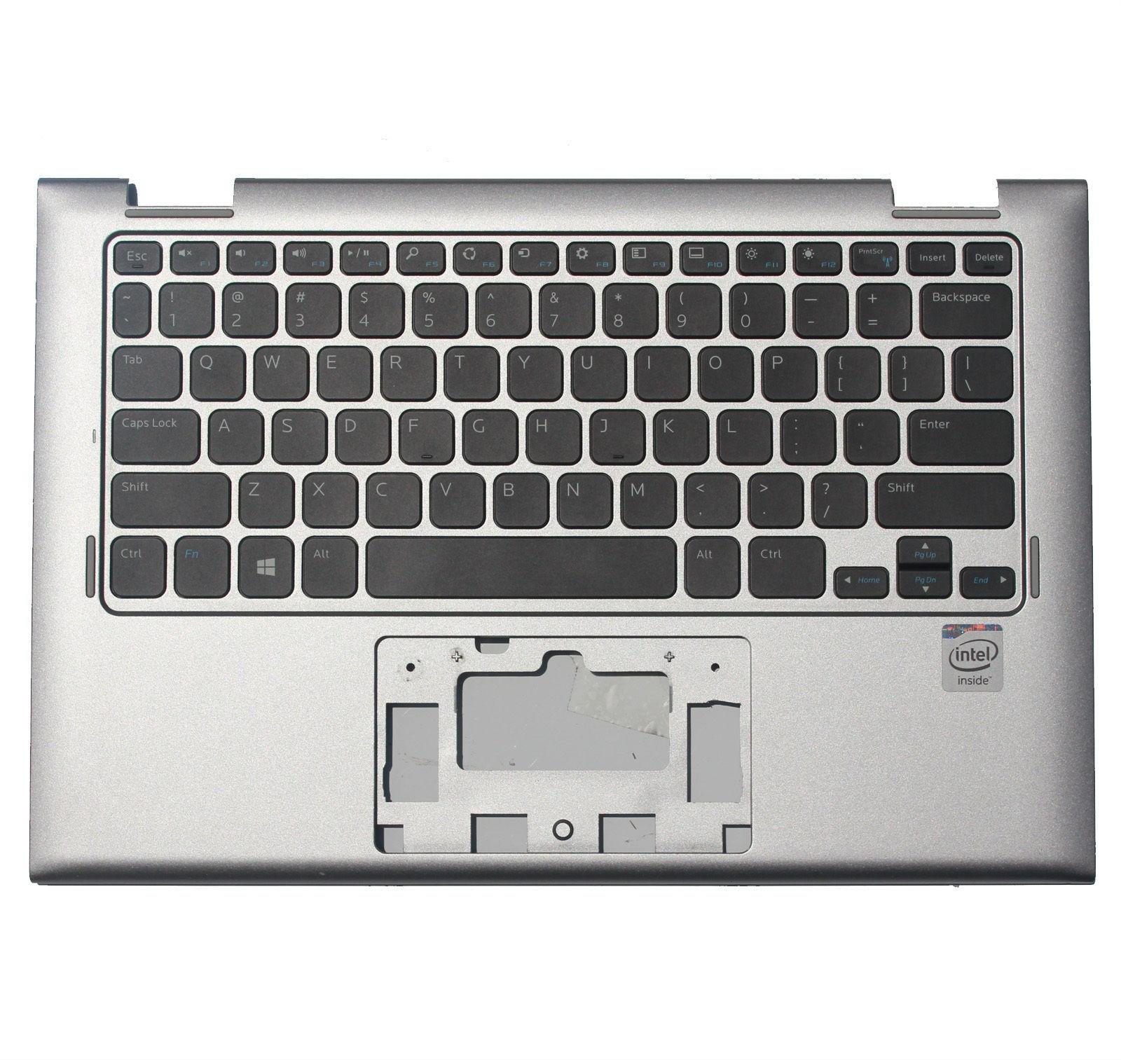 100% NEW For DELL INSPIRON 11 3147 3148 PALMREST W/ KEYBOARD 7W4K6 F4R5H Silver ноутбук dell inspiron 3567