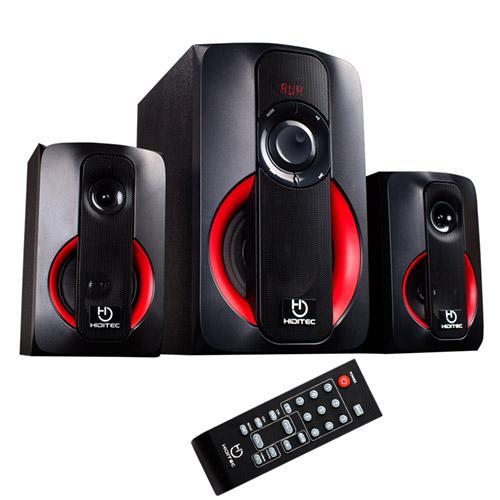 Haut-parleurs 2.1 Bluetooth Hiditec H400 40 W lecteur USB/SD et entrée AUX. Radio FM couleur noire/rouge