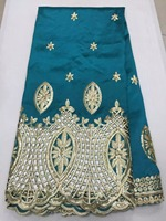 Luxury African George Lace Fabric With Raw Silk Embroidered SDX1 4