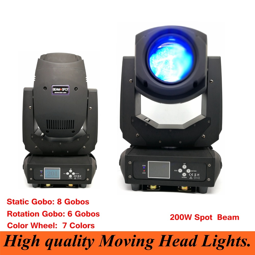Stage Lighting LED Spot Moving Head Light 200W Beam Spot 2IN1 LED Display With dj laser stage lighting disco light