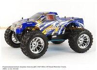 Hsp baja 1/10th escala nitro off road monster truck con motor 18cxp 94188 manía del rc coche de control remoto