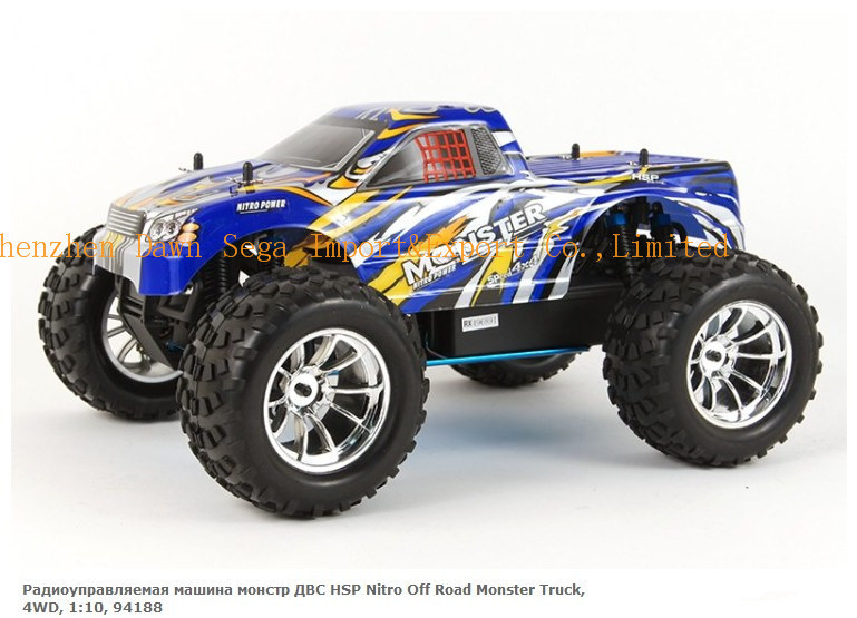HSP Baja 1/10th Scale Nitro Off Road Monster Truck  with 18CXP Engine 94188 RC HOBBY  remote control Car new hsp baja 1 8th scale nitro power off road buggy rtr camper 94860 with 2 4ghz radio control rc car remote control toys