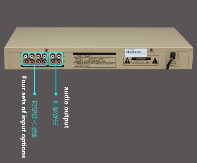 EQ665 égaliseur hifi fièvre maison égaliseur EQ double 10 bandes stéréo aigus Alto réglage des basses - 4