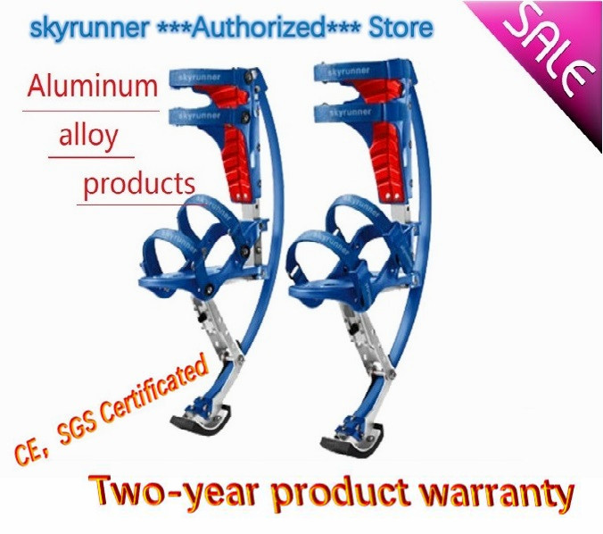 Skyrunner For People Weight: 44~88lbs/20~40kg blue Jumping Stilts/skyrunner/Jump shoes/Flying Shoes