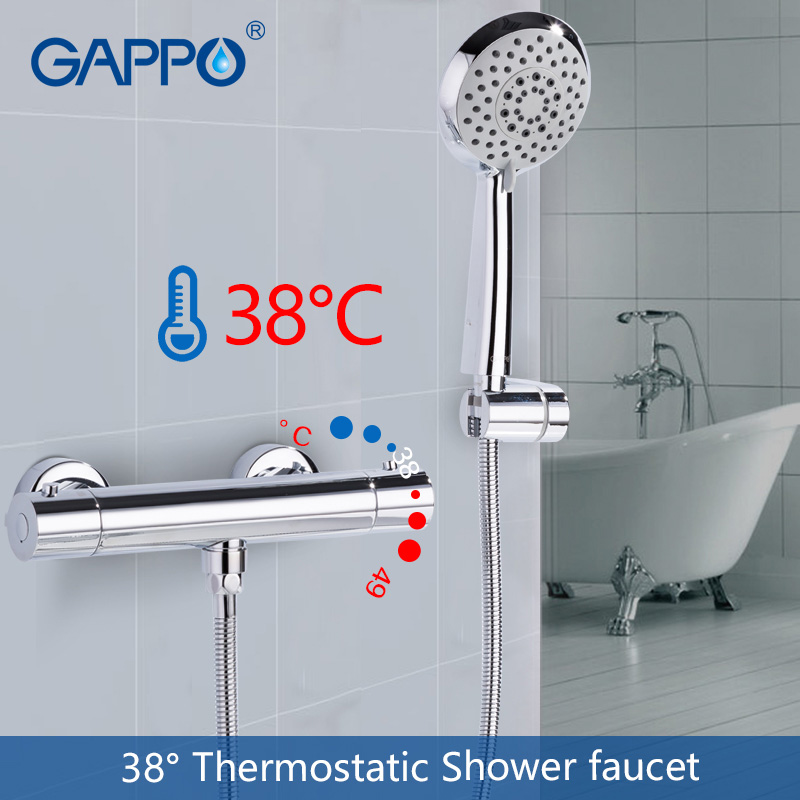 GAPPO Bathtub faucet bathroom mixer shower tap bath shower head taps rainfall shower set waterfall thermostatic shower faucetsGAPPO Bathtub faucet bathroom mixer shower tap bath shower head taps rainfall shower set waterfall thermostatic shower faucets