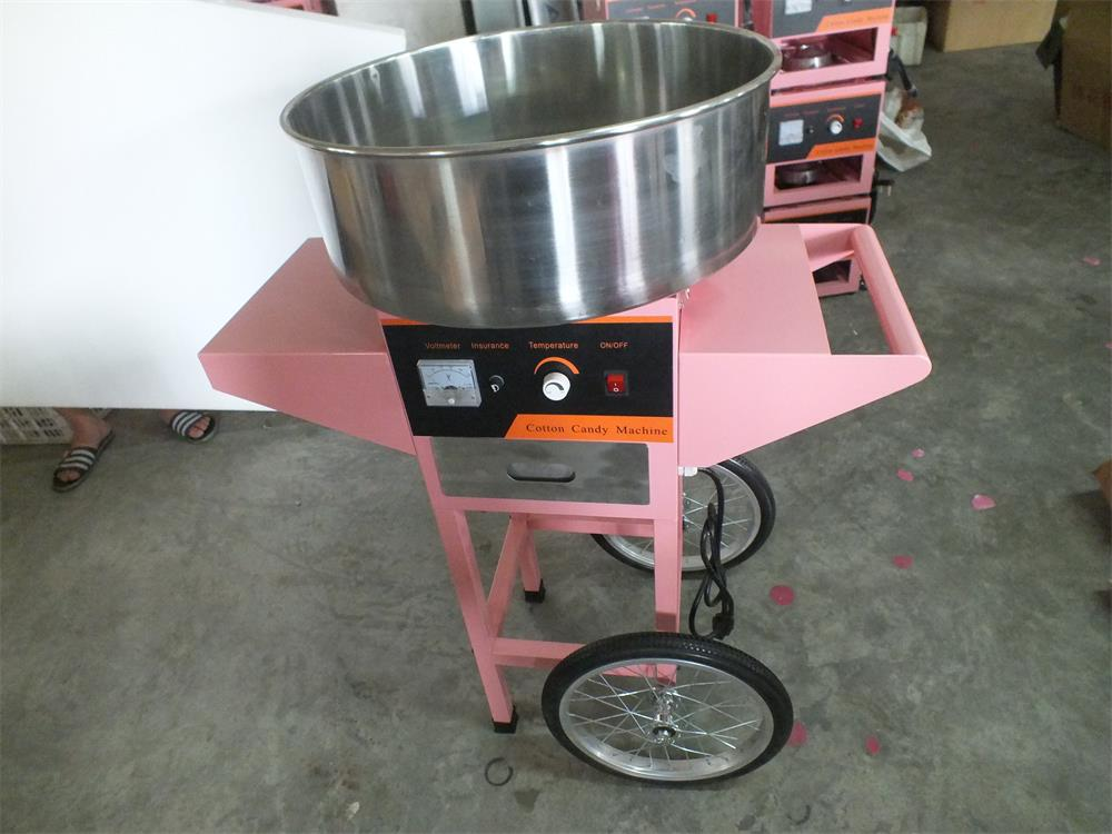 цена на China manufacturer commercial cotton candy machine cotton candy machine sugar candy floss machine with cart
