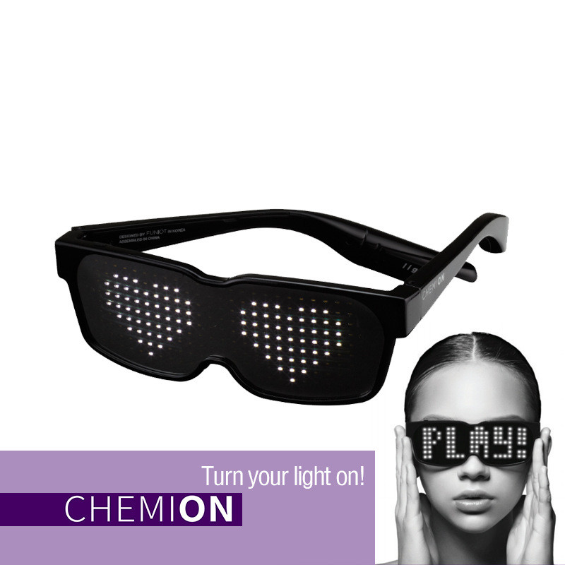 81634717ed5 Detail Feedback Questions about New CHEMION Bluetooth LED Glasses Special  Atmosphere Sunglasses Dynamic Glowing for Nightclub Party Birthday KTV New  Year ...