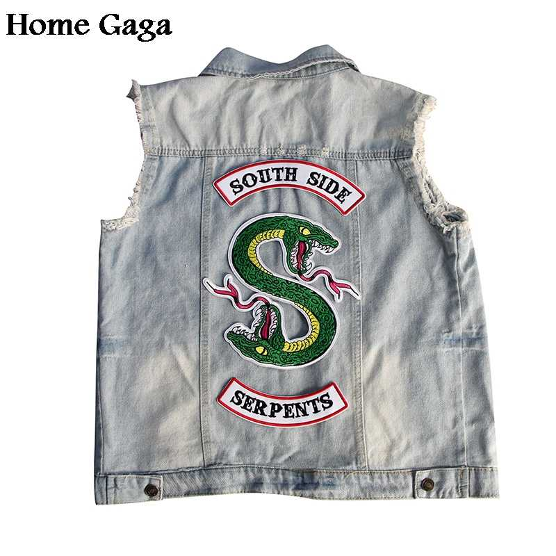 Homegaga RIVERDALE Southside Serpents snake Jacket Patches Embroidered Iron On Accessory cosplay clothing Stickers D1301