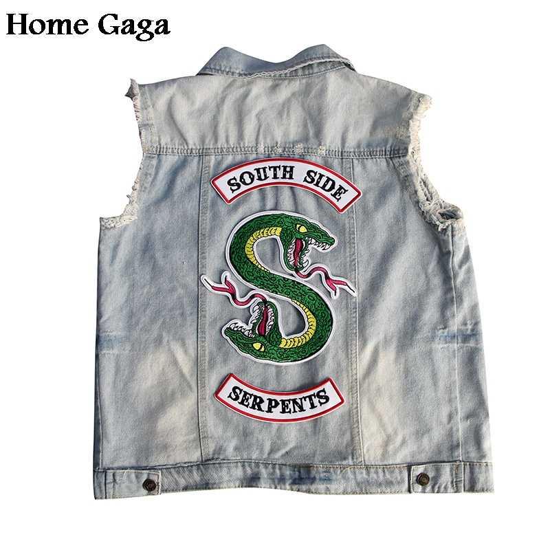 Homegaga ривердейл Southside змеи змея вышивка-наклейка для курток гладить на аксессуар косплэй костюмы наклейки D1301