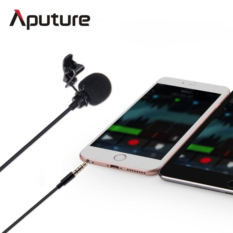 New Arrival Aputure A.lav ez lavalier microphone for mobile/smartphone lavalier clip-on microphone for mobile voice recording cтеппер bs 803 bla b ez