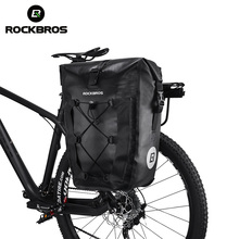 купить ROCKBROS Waterproof 20L Travel Cycling Bag Basket  Bike Bag Bicycle Rear Rack Tail Seat Trunk Bags Pannier MTB Bike Accessories по цене 2245.26 рублей