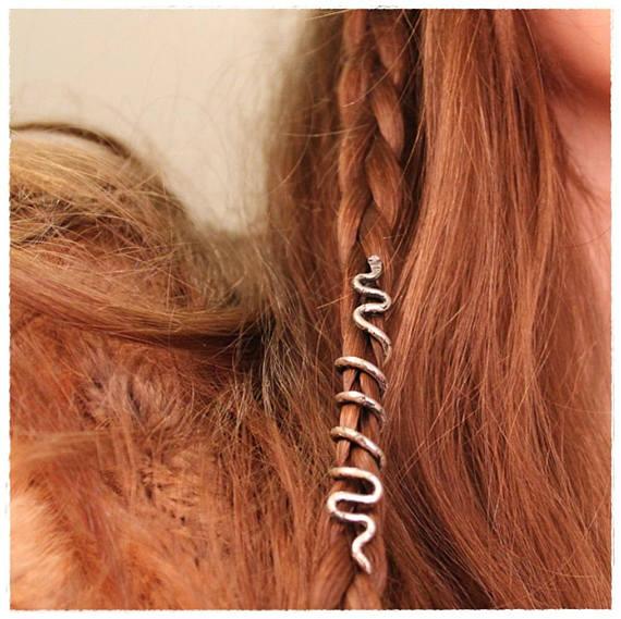 Small Snake Hair Beads Viking Beard Jewelry Bead Accessory Dreadlock Accessories