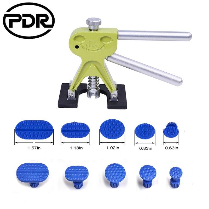 PDR Auto Reparatur Handwerkzeug Set Hardware Woordworking Werkzeug Dent Berufssoldat mit 10 stücke Kleber Tabs Dent Lifter für 1-7 cm Hagel Entfernung