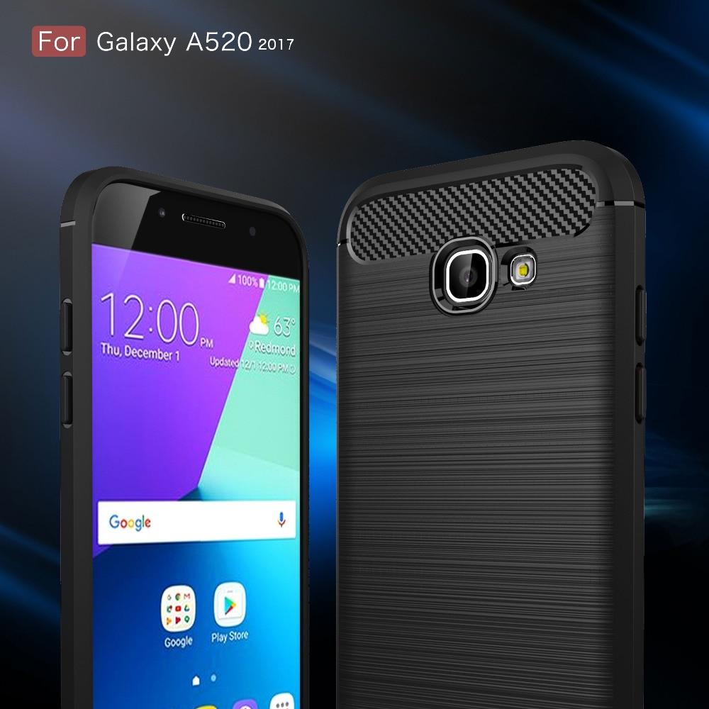 for samsung galaxy a5 2017 a520 silicone luxury business carbon fiber soft tpu coque for samsung