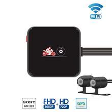 Cámara de coche M6L Wifi Original lente dual full hd 10800P Cámara dvr para motocicleta, cámara de coche soporte GPS y g sensor