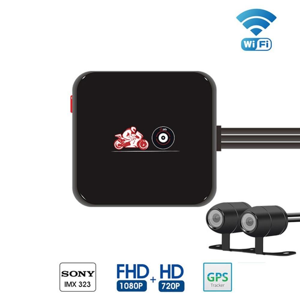 M6l original câmera dupla do carro de wifi lente completa hd 10800 p câmera dvr da motocicleta, gps do apoio da câmera do carro e g sensor