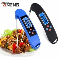 Hot Ultra Instant Read Foldable LCD Digital BBQ Thermometer Cooking Thermometer Auto Off Probe Mini Folding