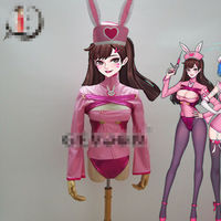 2019 Anime cosplay OW D.VA dva Pink Nurse Cosplay Costume Bunny Girl Jumpsuits Sexy Uniforms A
