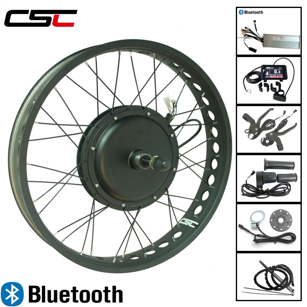 Fat Bike 20 24 26 inch 4 0 Tyre 48V 1500W Snow Electric bicycle Conversion Kit