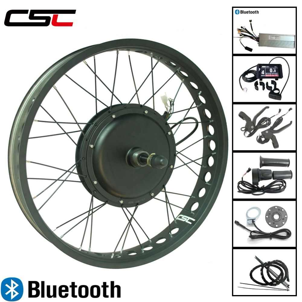 Fat Bike 20 24 26 inch 4.0 Tyre 48V 1500W Snow Electric bicycle Conversion Kit Bluetooth front or Rear Wheel Motor Ebike