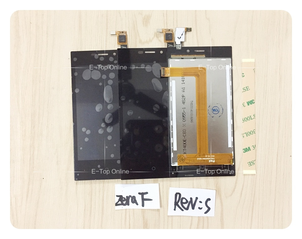 LCD Assembly For Highscreen Zera F Rev. S LCD Display with Touch Screen Digitizer Sensor assembly + 3M sticker +tracking