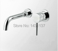 high quality brass single lever chrome bathroom in wall sink faucet basin mixer bathroom sink faucet