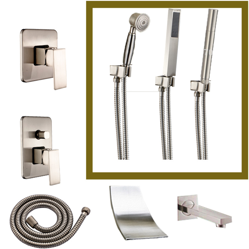 DIY Brushed Nickel Bathroom Bath Faucet Accessory Wall Brass Mixer Valve  Tub  Spout ShowerOnline Get Cheap Faucet Shower Hose  Aliexpress com   Alibaba Group. Bath Faucet Shower Hose. Home Design Ideas