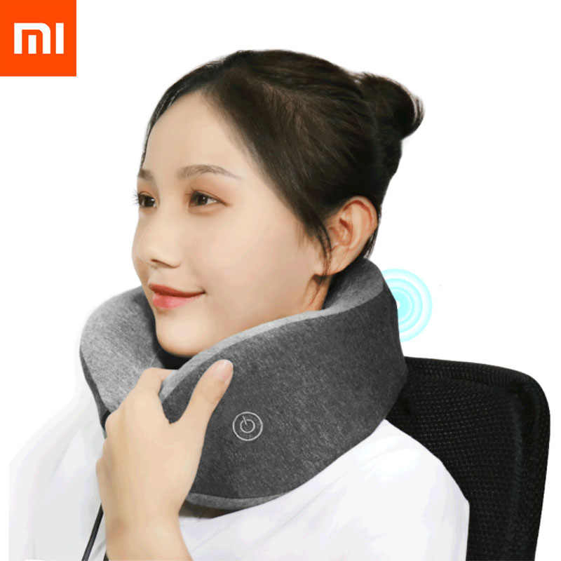 Xiaomi Mijia LF Neck Massager U-Shape Pillow Neck Relax Muscle Therapy Massager Sleep Pillow for Office Rest No Storage Box