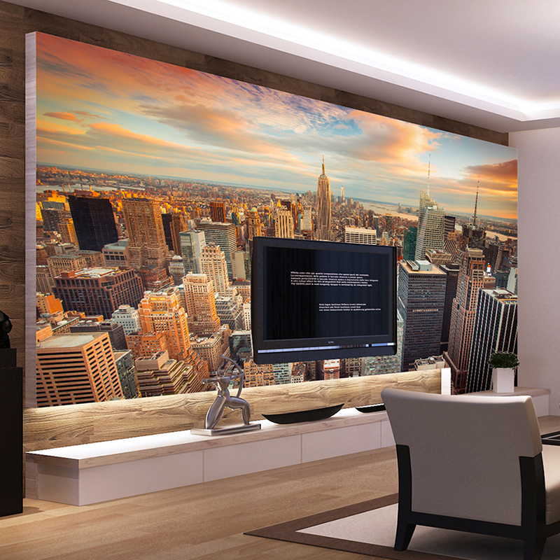 Custom Mural Wallpapers Modern City Building Scenery Living Room Sofa TV Background Wall Painting Photography Photo Wallpaper 3d custom photo mural wallpaper modern city building large wall painting living room background city night view murales para pared