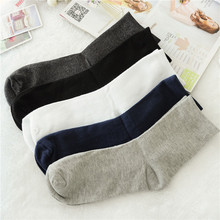 1pairs new Cotton men socks pure color summer winter