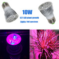 10W E27 LED Grow lamp bulb Full spectrum LED Grow lights AC85-265V 650nm 700nm 450nm grow led