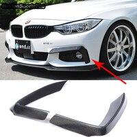 F32 F33 F36 M Sport Carbon Fiber Auto Car Front Lip Splitter Cover trim for BMW 420i 425i 430i 440i M Tech 2014 2015 2016