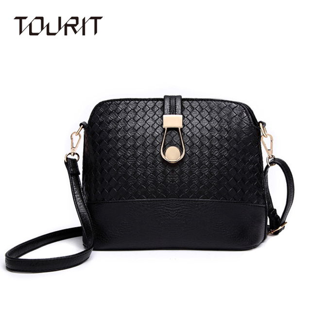 2016 New Women Messenger Bags Fashion Women PU Leather Bag Durable Cross-Body Knitting Women Bag Ladies Shoulder Bag
