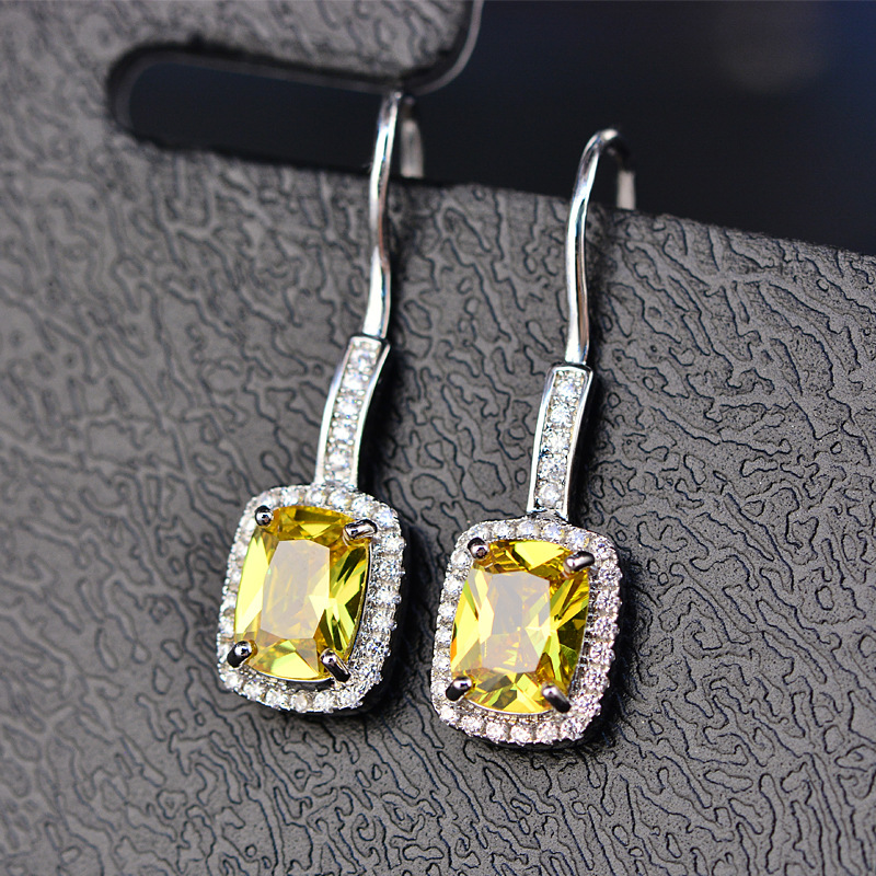 HTB1yb6FMirpK1RjSZFhq6xSdXXaR - OneRain 100% 925 Sterling Silver 6 * 8 MM Emerald Citrine Sapphire Gems Drop Dangle Hook Earrings For Women Jewelry Wholesale
