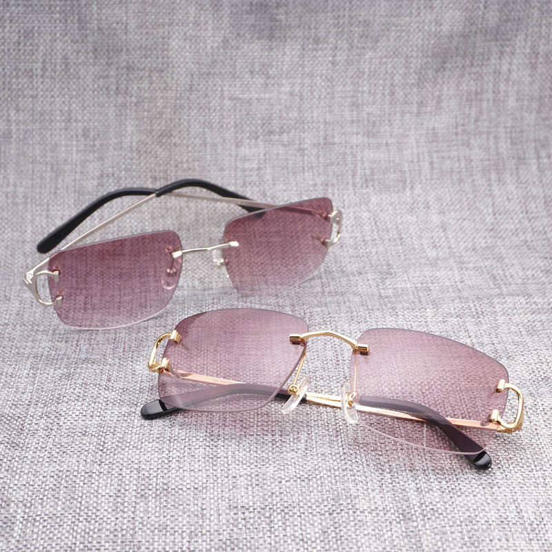 Винтаж без оправы квадратный солнцезащитные очки для мужчин интимные аксессуары óculos тенты для лета открытый металлические очки проповеди ...